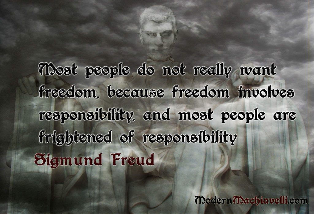 Quote by Sigmund Freud about Freedom & Responsibility